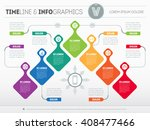 infographic with design... | Shutterstock .eps vector #408477466