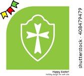 web line icon. shield. | Shutterstock .eps vector #408479479