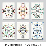 geometric colorful ethnic... | Shutterstock .eps vector #408486874