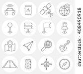 navigation line icons | Shutterstock .eps vector #408490918