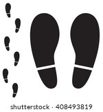 human foot print icon on white... | Shutterstock . vector #408493819