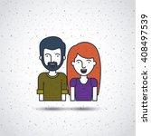 flat line people design  | Shutterstock .eps vector #408497539