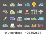 set of 24 transport isolated... | Shutterstock .eps vector #408502639