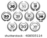 retro stylized decorative 30th... | Shutterstock .eps vector #408505114