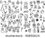 big collection of christmas... | Shutterstock .eps vector #40850614