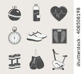 set of sport and fitness icons... | Shutterstock .eps vector #408508198