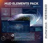 hud ui ux for trading business... | Shutterstock .eps vector #408508600