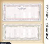 vintage certificate template... | Shutterstock .eps vector #408508618