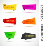 vector stickers  price tag ... | Shutterstock .eps vector #408510379
