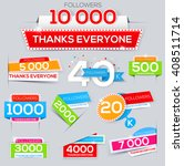 set of thanks banner for... | Shutterstock .eps vector #408511714