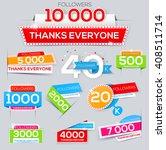 set of paper thanks banner for...   Shutterstock .eps vector #408511714