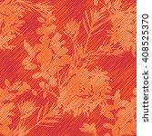 orange botanical pattern... | Shutterstock .eps vector #408525370