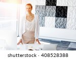 attractive office worker... | Shutterstock . vector #408528388