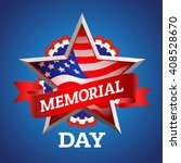 memorial day greeting card.... | Shutterstock .eps vector #408528670