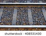 Closeup Of  Railway With Gravel