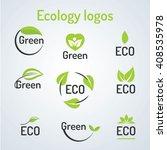 ecology logo.ecology info... | Shutterstock .eps vector #408535978