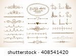 set of doodle sketch decorative ... | Shutterstock .eps vector #408541420