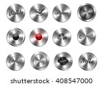 ui set  brushed metal knobes
