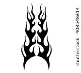 flame tattoo tribal sketch.... | Shutterstock .eps vector #408548614