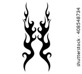 flame vector tribal. black... | Shutterstock .eps vector #408548734