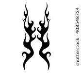 black tribal flames for tattoo...   Shutterstock .eps vector #408548734