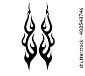 flame vector tribal  tattoo... | Shutterstock .eps vector #408548746