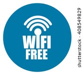 blue simple circle wifi free...   Shutterstock . vector #408549829