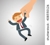 flat illustration about success ... | Shutterstock .eps vector #408550126