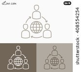 line icon  group of  people... | Shutterstock .eps vector #408554254