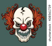 evil scary clown. halloween... | Shutterstock .eps vector #408561739