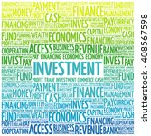 investment word cloud  business ... | Shutterstock .eps vector #408567598