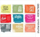 premium quality retro vintage... | Shutterstock .eps vector #408567880