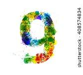 color paint splashes. gradient... | Shutterstock .eps vector #408574834