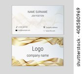 abstract business card design... | Shutterstock .eps vector #408580969