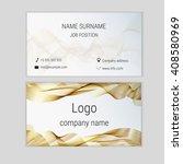 abstract business card design... | Shutterstock .eps vector #408580969