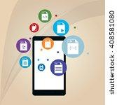 responsive web design  editable ... | Shutterstock .eps vector #408581080