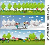 vector set of sport shooting... | Shutterstock .eps vector #408582478