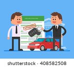 approved car loan vector... | Shutterstock .eps vector #408582508