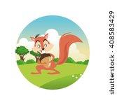 squirrel cartoon  colorful...   Shutterstock .eps vector #408583429