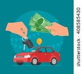 car sale vector illustration.... | Shutterstock .eps vector #408585430