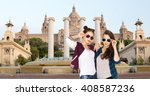 people  friendship  travel ... | Shutterstock . vector #408587236