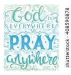 vector religions lettering.... | Shutterstock .eps vector #408590878