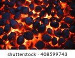 Hot Glowing Charcoal Briquettes ...