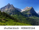 Rocky Mountains Green Glacier...