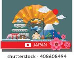 japan infographic travel place... | Shutterstock .eps vector #408608494