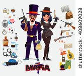 mafia character design  male... | Shutterstock .eps vector #408609028