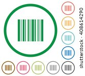 set of barcode color round...