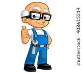 car mechanic or plumber ...   Shutterstock .eps vector #408615214