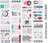 infographic teamwork vector... | Shutterstock .eps vector #408621880