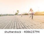happy mother and daughter in... | Shutterstock . vector #408623794